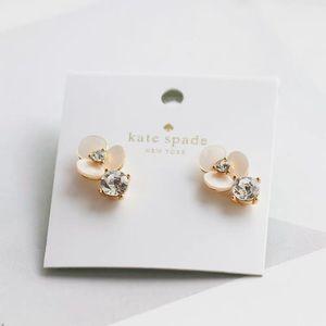 Kate Spade Pavé Crystal Disco Pansy Drop Earrings